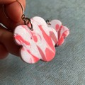 Marbled pink and white flower dangles