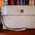 Beige Linen-look Clutch