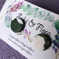 Round shimmery studs - multiple colour options