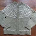 Hand Knitted Nordic Cardigan to Fit 3-4 Year Old