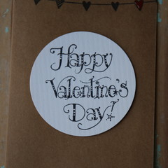 Happy Valentine's Day Card Heart Bunting Card Heart Card Lovers Card