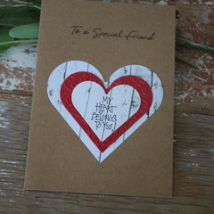Valentine's Day Card My Heart Belongs to You Card Special Friendship Card