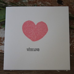 Valentine's Day Card With Love Card Pink Heart Card Happy Anniversary Card