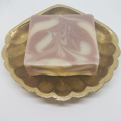Artisan Soap Lavender Double Clay Swirl