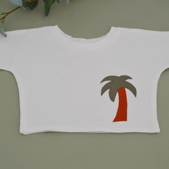 Relaxed Stretch jersey t shirt / palm applique / tops for babies and toddlers