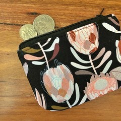 Coin purse - Black Protea