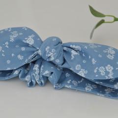 Light blue head knot / head band / hair ties