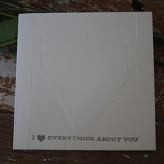 Valentine's Day Card I Love everything about you Card Anniversary Card