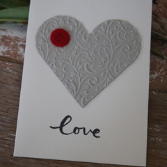 Christmas Card Valentine's Day Card Heart Card Wedding Card Engagement Card