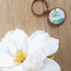 "Keyring ""Blue Gum Leaves"" 