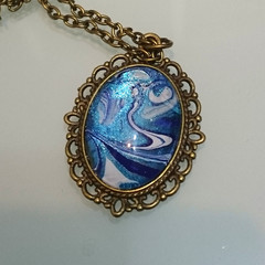 MADEIT FOR FIREFIGHTERS - Water Wanted Marbled Pendant with Chain