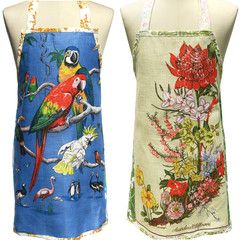 Metro Retro  BIRDS or AUSTRALIA WILDFLOWERS Tea Towel Kitchen Apron