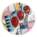 Round Abstract Wall Art - Bright Original Painting - Serendipity 2