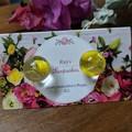 Round Resin Earrings