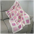 Cot quilt or blanket, crochet, wool,