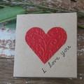 Valentine's Day Card I Love You Card Anniversary Card Birthday Card