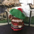 'Wee Jock MacHaggis' Hand Crocheted Scottish Gonk