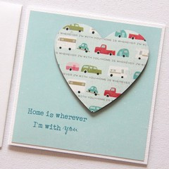 Love card Happy Anniversary Valentine's Day Wife Husband Valentine caravan
