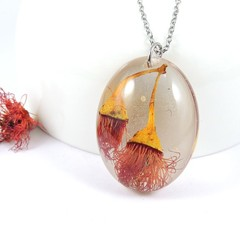 Madeit for Firefighters, Gum tree flower pendant - oval