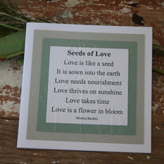 Valentine's Day Card Original Verse Seeds of Love Card Wedding Card