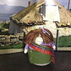 'Heather MacHaggis' Hand Crocheted Scottish Gonk