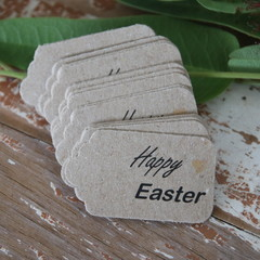 24 Happy Easter Tags Easter Favour Tags Gift Tags for Easter Treat Bags