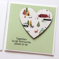 Love card Happy Anniversary Valentine's Day Wife Husband Valentine camping