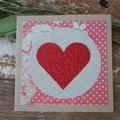 Red Heart Card Valentine's Day Card Love Card Wedding Card Anniversary Card