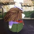 'Heather MacHaggis' Hand Crocheted Scottish Gonk