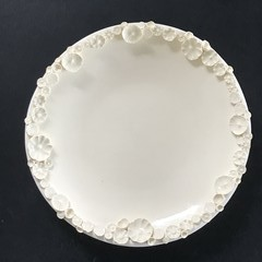 Decorative 18.5cm Sprig Dish - White