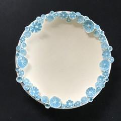 Decorative 12.5cm Sprig Dish - Light Blue