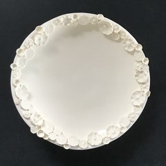 Decorative 12.5cm Sprig Dish - White