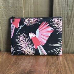 Denim Pink Galah Purse