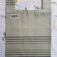 Sustainable cotton shopping bag with Square base