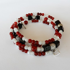 Red Black & White Bracelet Wrap
