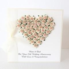 Personalised Anniversary Card, 20th 25th 30th 35th 40th 50th 60th 70th