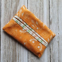 Tissue holder spaceship patterned quilting cotton fabric