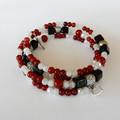 Red Black & White Bracelet Wrap