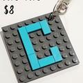 BAG TAGS -  Square Monogram Brick Bag Tags