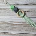 Macrame inspired bag zipper pull, bag bling, keyring