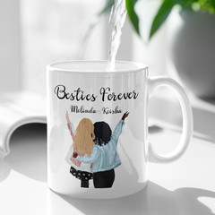 Best Friends Besties Sisters Personalised Ceramic Coffee Tea Mug Cup - CM014