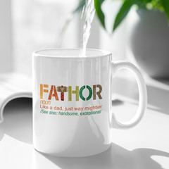 Father Fa Thor Personalised Ceramic Coffee Tea Mug Cup - CM003