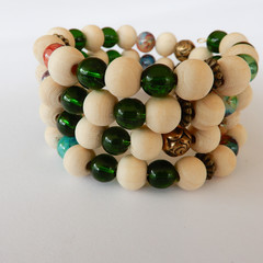 Wrap Bracelet in Greens