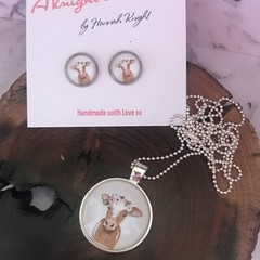 Jersey Girl earring & pendant set