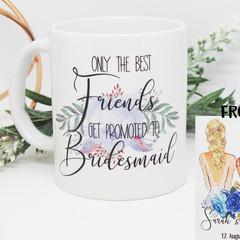 Bridesmaid Proposal Mug, Gift for Bridesmaid, Maid of Honour Mug,
