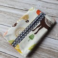 Tissue holder forrest animal patterned quilting cotton fabric