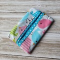 Tissue holder baby bird patterned quilting cotton fabric
