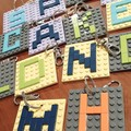 BAG TAGS -  Square Monogram Brick Bag Tags