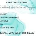 Friends  Birthday. personalised Stemless wineglass.