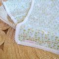 Cotton vintage lace baby keepsake blanket - Bunny print